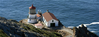 Point Reyes Lighthouse Panorama Royalty Free Stock Photos