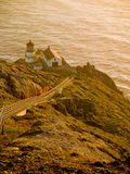 Point Reyes Lighthouse at Sunset Royalty Free Stock Image