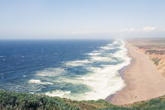 Point Reyes National Seashore on a windy spring day, Marin County, California Stock Photography