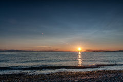 Point Roberts sunset  at moonlight Royalty Free Stock Photos