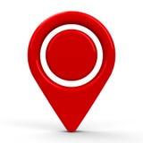 Point rouge 2 d'indicateur de carte Images libres de droits