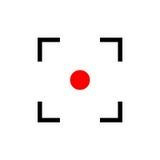 Point rouge Icône de cible Photographie stock libre de droits
