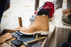 Point of sale of a shoemaker Stock Images