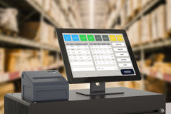 Point of sale system for store management royalty free stock images