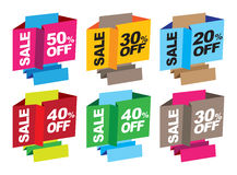 Point of sales messages Stock Photo