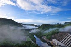 Point scénique du barrage Photographie stock