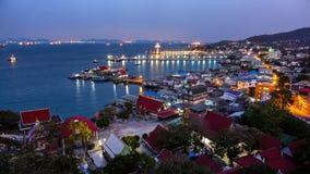 Point scénique sur l'île de Sichang Images stock