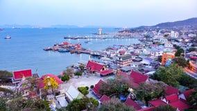 Point scénique sur l'île de Sichang Photo libre de droits