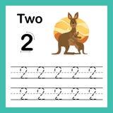 Point se reliant et exercice imprimable de nombres illustration de vecteur