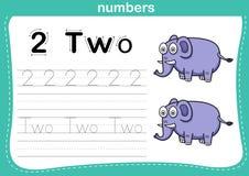 Point se reliant et exercice imprimable de nombres Image libre de droits