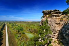 Point Shawnee Forest Illinois d'inspiration Photographie stock libre de droits