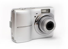 Point and shoot camera. Isolated on white background royalty free stock image