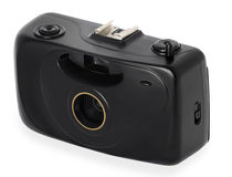 Point and shoot camera. Isolated Stock Image