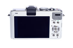 Point and Shoot Digital Camera Isolated on White Stock Photo