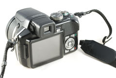 Point and shoot zoom digital camera. Isolated on white background Stock Image