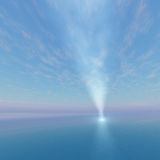 Point Spot light beacon to sky Royalty Free Stock Image