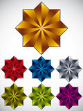 8 point star vector icon. Stock Images