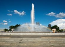 Point State Park Fountain in downtown Pittsburgh stock photography