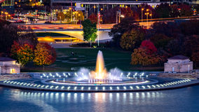 Point State Park in Pittsburgh. Pennsylvania and the iconic illuminated water fountain royalty free stock photo