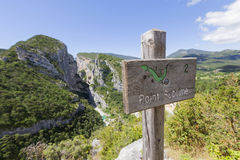 Point Sublime. In the Gorges du Verdon, Provence, France, Europe Stock Photo
