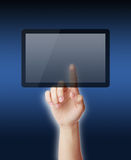 Point on Tablet PC Royalty Free Stock Photo