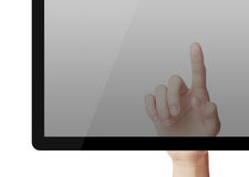 Point on Tablet PC Stock Images