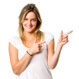 Point to copyspace Royalty Free Stock Photo