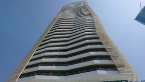 Point tower. In izmir Bayraklı where fitness center and restaurants exists. 10:30 in the morning stock images