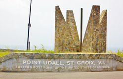 Point udall st croix usvi easternmost of the usa Stock Photography