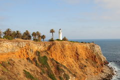 Point Vicente lighthouse. A view of the landmark Point Vicente lighthouse in Palos Verdes, north of Los Angeles, California Stock Image
