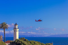 Point Vicente Lighthouse and Coast Guard Station Stock Photography