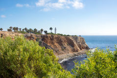 Point Vicente Lighthouse and Coast Guard Station Royalty Free Stock Photos