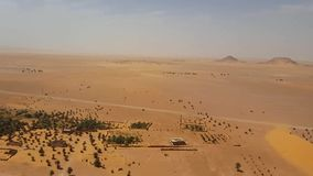Point of view Algerian Sahara from Jewish ruins stock video footage