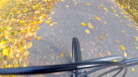 Cyclist ride. stock footage