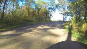 A point of view drive in the country in Autumn stock video