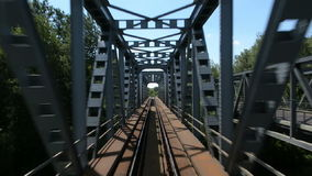 Point of view footage from a train stock video footage