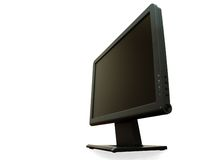 Point of view - modern wide LCD monitor isolated Stock Photo