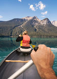 Canoeing on Emerald Lake Stock Images