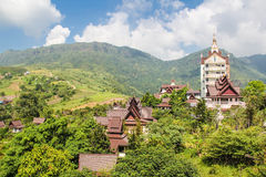 Point view of Phasornkaew. Temple in Phetchabun  province, Thailand Royalty Free Stock Photography