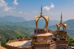 Point view of Phasornkaew. Temple in Phetchabun  province, Thailand Stock Images