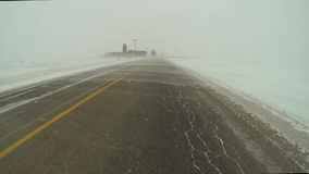 Point Of View (POV) In Drifting Snow Causes Whiteouts Stock Video ...