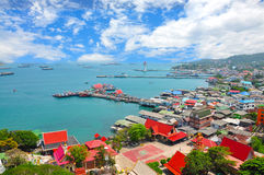 Point view on Si Chang island Royalty Free Stock Photography
