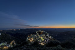 Point of view sunset on Casares Stock Photography