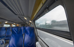 Point of view of a train passenger Stock Image