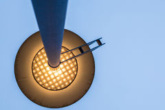 Point of view under a street lamp royalty free stock images