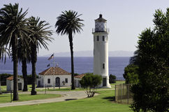 Point Vincent Lighthouse. In Palos Verdes California Stock Photography