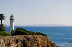 Point Vincent Lighthouse. In Palos Verdes California Royalty Free Stock Photo