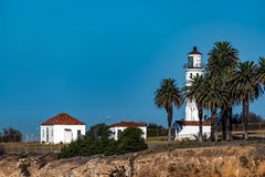 Point Vincent Lighthouse. On the Southern California coast Stock Photography