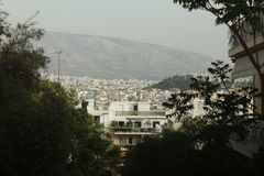 panorama of Athens royalty free stock photo