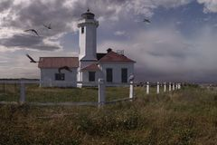 Point Wilson Lighthouse royalty free stock images